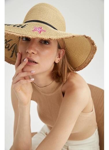 DeFacto Hasır Şapka Bej